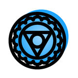 Vishuddha chakra icon Stock Photos