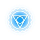 Vishuddha chakrasymbol Royaltyfria Bilder