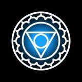Vishuddha chakrasymbol Arkivfoton