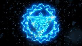 Vishuddha la formazione di Chakra della gola dell'energia illustrazione di stock