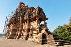 Vishvanath świątynia w Khajuraho Obrazy Stock