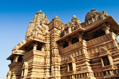 Vishvanatha Temple, Khajuraho, India - UNESCO world heritage site. Stock Photo