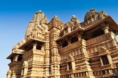 Vishvanathatempel, Khajuraho, India - Unesco-de plaats van de werelderfenis. Stock Foto