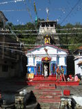 Vishwanath Shiva Temple, Guptakashi, India. Vishwanath Mandir or Hidden Shiva Temple in the village of Guptakashi in the Himalayas, Rudraprayag District royalty free stock images
