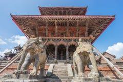 Vishwanath tempel på Patan den dubar fyrkanten Arkivbilder