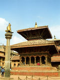Vishwanath tempel, Patan, Nepal Royaltyfri Bild