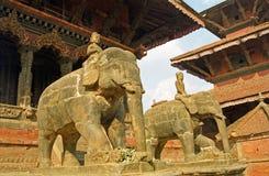 Vishwanath tempel, Patan, Nepal Arkivbilder