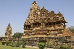 Vishwanathatempel, Westelijke Tempels van Khajuraho, India royalty-vrije stock foto's