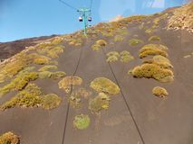 Visión que sorprende, el Etna foto de archivo libre de regalías