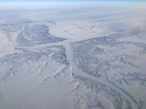 Visión aérea ártica Foto de archivo