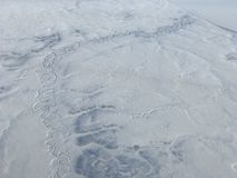 Visión aérea ártica fotografía de archivo libre de regalías