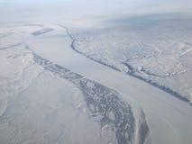 Visión aérea ártica Imagen de archivo