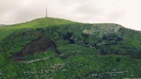 Visión aérea alto Cliff Coastline imperecedero metrajes