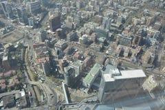 Visión aérea asombrosa en Santiago, chile Fotografía de archivo libre de regalías
