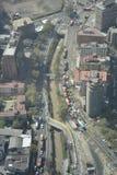Visión aérea asombrosa en Santiago, chile Imagen de archivo