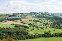 Visión aérea cerca de la abadía de Vezelay en Francia Imagen de archivo libre de regalías