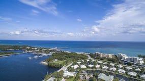 Visión aérea Delray Beach, la Florida Fotos de archivo libres de regalías