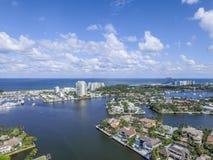 Visión aérea Delray Beach, la Florida Imagen de archivo libre de regalías