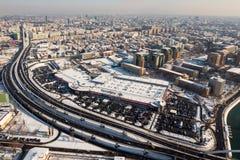 Visión aérea desde Bucarest Imagen de archivo