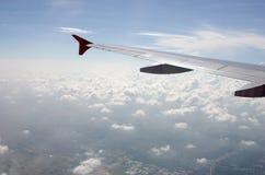 Visión aérea desde el aeroplano Fotografía de archivo