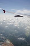 Visión aérea desde el aeroplano Imagen de archivo