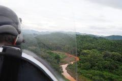 Visión aérea desde el autogiro imagen de archivo libre de regalías