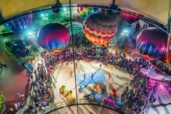 Visión aérea desde el balón de aire en el parque HK del océano Imagen de archivo