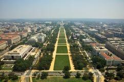 Visión aérea desde el monumento de Washington Foto de archivo
