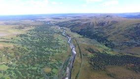 Visión aérea desde el paisaje de los Urales polares metrajes
