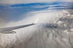 Visión aérea desde el plano Fotografía de archivo