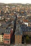 Visión aérea, desde la ciudadela, de la ciudad de Namur, Bélgica, Europa foto de archivo libre de regalías