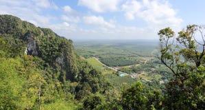 Visión aérea desde la montaña Fotos de archivo