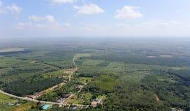 Visión aérea desde la montaña Imagen de archivo