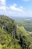 Visión aérea desde la montaña Fotos de archivo libres de regalías