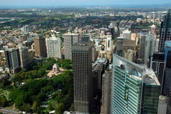 Visión aérea desde Sydney Eye Tower Imágenes de archivo libres de regalías