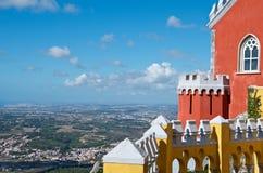 Visión aérea desde un castillo en Portugal Imágenes de archivo libres de regalías