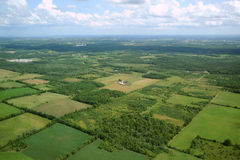 Visión aérea en Canadá (1) Foto de archivo libre de regalías
