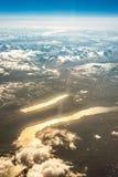 Visión aérea en Finnmark, Noruega Foto de archivo