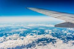 Visión aérea en Finnmark, Noruega Foto de archivo libre de regalías