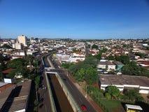 Visión aérea en la ciudad de Sertaozinho, Sao Paulo, el Brasil foto de archivo libre de regalías