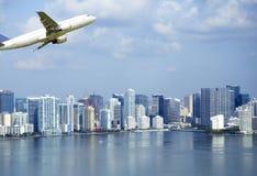 Visión aérea en Miami imagen de archivo libre de regalías