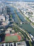 Visión aérea en París foto de archivo libre de regalías