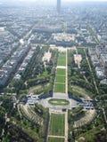 Visión aérea en París Imágenes de archivo libres de regalías