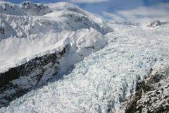 Visión aérea - glaciar del Fox foto de archivo libre de regalías