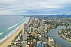 Visión aérea Gold Coast Foto de archivo libre de regalías