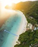 Visión aérea granangular de la isla del phee del oo del nyaung la mayoría del tra popular Fotografía de archivo libre de regalías
