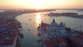 Visión aérea Italia Venecia almacen de video