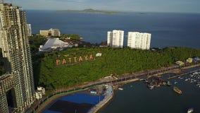 visión aérea 4K alrededor de la muestra de la ciudad de Pattaya metrajes