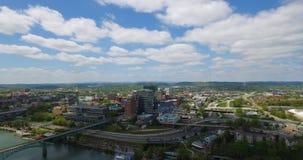 Visión aérea, Knoxville, Tennessee, los E.E.U.U. 4k céntrico metrajes