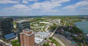 Visión aérea, Knoxville, Tennessee, los E.E.U.U. 4k céntrico almacen de metraje de vídeo